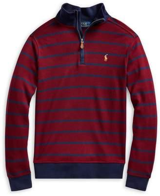 Ralph Lauren Childrenswear Boy's Striped Cotton Pullover Sweater
