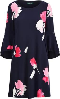 Ralph Lauren Flutter-Sleeve Floral Dress