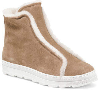 Made In Italy Shearling Lining Booties