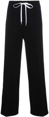 Miu Miu contrast logo striped trousers