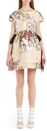 Women's Fendi Fil Coupe Floral Brocade Dress