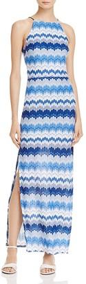 AQUA Halter-Neck Maxi Dress - 100% Exclusive $98 thestylecure.com