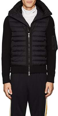 Moncler Men's Tech-Fabric & Wool-Blend Down Hooded Jacket - Black