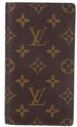 Louis Vuitton Vintage Monogram Checkbook Cover