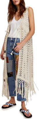 Free People Suncatcher Crochet Duster Cardigan