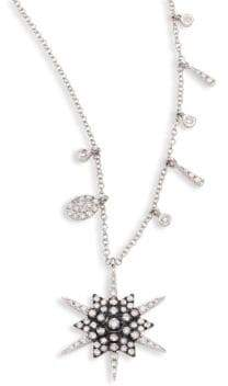 Meira T Star Diamond& 14K White Gold Pendant Necklace