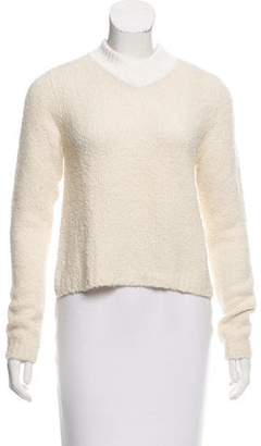 Tory Burch Textured Long Sleeve Sweater