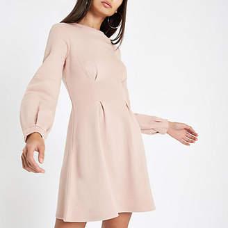River Island Pink long sleeve sweater dress