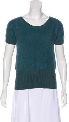 Gucci Angora-Blend Short Sleeve Sweater