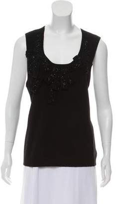 Magaschoni Embellished Cashmere Top