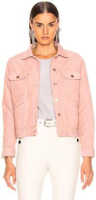 Etoile Isabel Marant Foftya Corduroy Jacket in Light Pink | FWRD