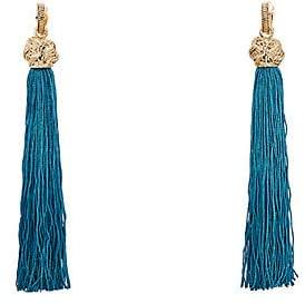 Saint Laurent Women's Loulou Earrings - Md. Blue