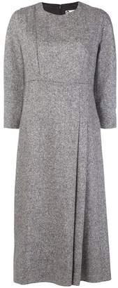 Lanvin woven pleat front dress
