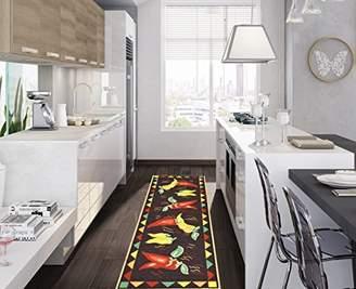 Ottomanson Siesta Collection Kitchen Hot Peppers Design (Non-Slip) Runner Rug