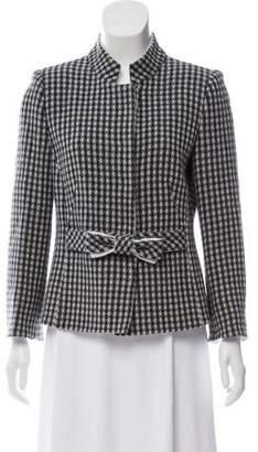 Armani Collezioni Wool Patterned Jacket w/ Tags
