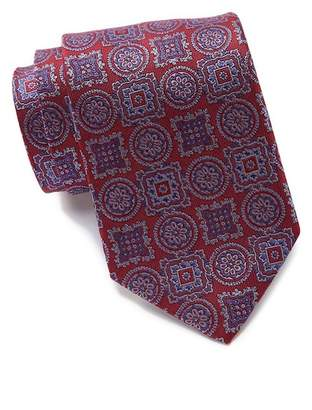 David Donahue Silk Squares & Medallion Tie