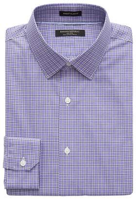Banana Republic Grant Slim-Fit Non-Iron Check Dress Shirt