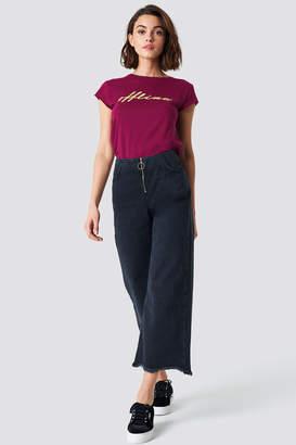 Trendyol Front Zip Culotte Jeans Black