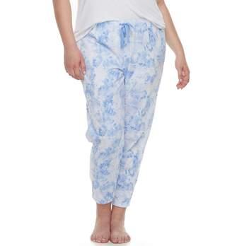 So Plus Size SO Printed Jogger Pajama Pants