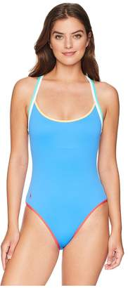 Polo Ralph Lauren Modern Solids - Doubling Binding Racerback One-Piece Swimsuit Women's Swimsuits One Piece