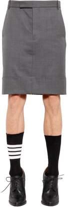 Thom Browne 50cm Super 120's Wool Twill Skirt