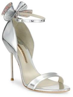 Sophia Webster Maya Metallic Leather Ankle-Strap Sandals
