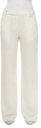 Helmut Lang Wide-Leg Wool Pants $425 thestylecure.com
