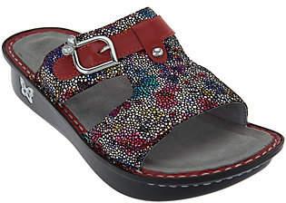 Alegria Leather Adjustable Slide Sandals -Peggy