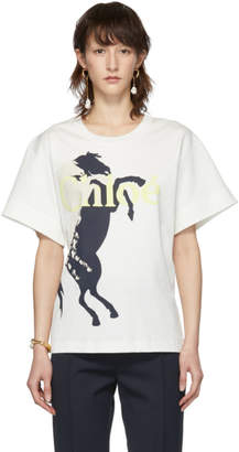Chloé White Mercerised Horse T-Shirt