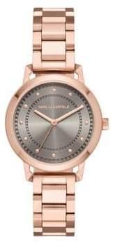 Vanessa Stainless Steel Three-Hand Bracelet Watch