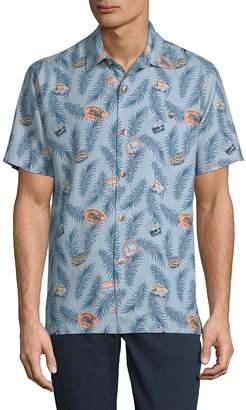 Tommy Bahama Men's Destination California Silk Button-Down Shirt