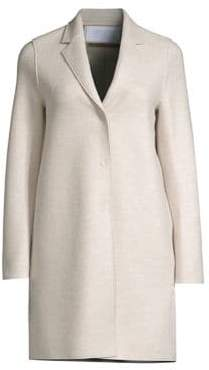Harris Wharf London Virgin Wool Cocoon Coat