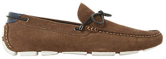 Dune Bluewater Suede Driver Loafer