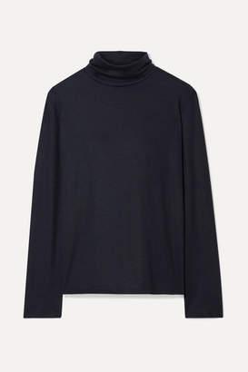 The Row Erita Stretch-cashmere Turtleneck Sweater - Navy