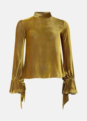 Mary Katrantzou Frida Top Gold