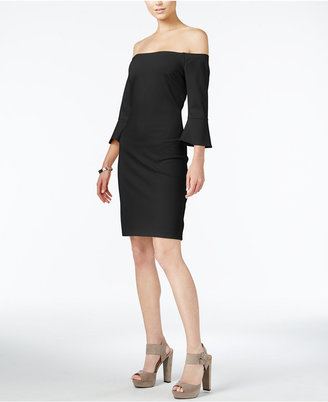 Bar Iii Off-The-Shoulder Bell-Sleeve Dress, Only at Macy's $79.50 thestylecure.com