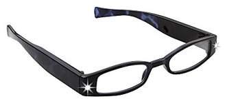 LIGHTSPECS Women's Rechargeable Ultra Bright LED Lighted Lightweight Rectangular Reading Glasses
