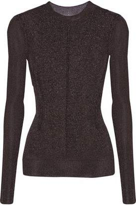 Christopher Kane Metallic Pointelle-Knit Sweater