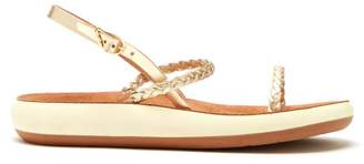 Ancient Greek Sandals Iridia Braided Leather Thick Sole Sandals - Womens - Gold