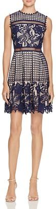 AQUA Mixed Lace Dress $98 thestylecure.com