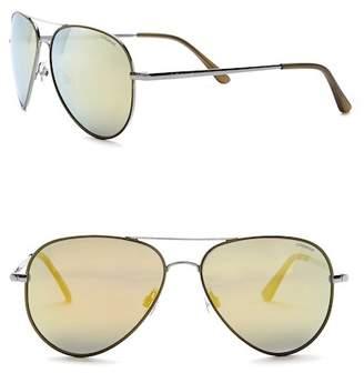 POLAROID EYEWEAR Aviator 58mm Metal Frame Sunglasses