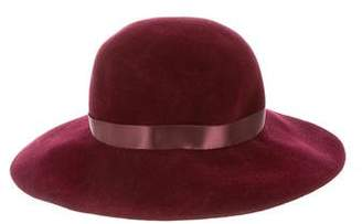 Patricia Underwood Woven Satin Trimmed Fedora w/ Tags