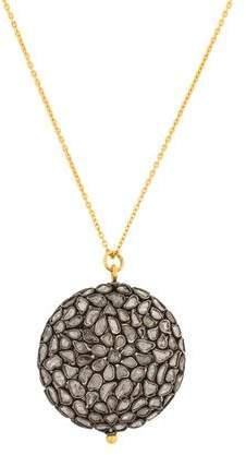 Gurhan Spell Pastiche Diamond Slice Pendant Necklace