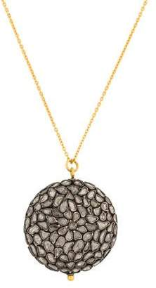 Gurhan Spell Pastiche Diamond Slice Pendant Necklace