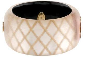 Alexis Bittar Lucite Wide Hinge Bangle