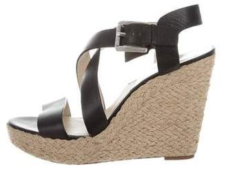MICHAEL Michael Kors Leather Espadrille Wedges