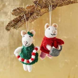 west elm Felt Mice Ornaments