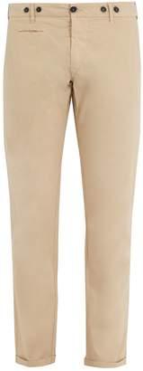 Barena VENEZIA Mid-rise cropped cotton-blend chino trousers