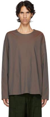 Lemaire Brown Poplin T-Shirt