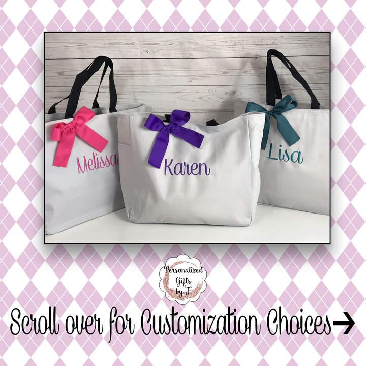 Etsy Set of bridesmaid tote bags bridesmaid gifts tote bag beach bag bachelorette party gift wedding